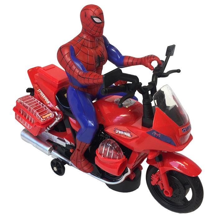 Игрушка Супергерой BR-6310 Человек-паук на мотоцикле, свет ...
